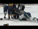 Gotta See It- Burrows gets rough with Lehner, then gets tackled by Falk