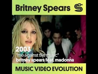 Эволюция клипов Бритни Спирс  от «Billboard»