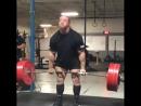 Дэн Грин - тяга 355 кг и 330 кг на 3 повтора