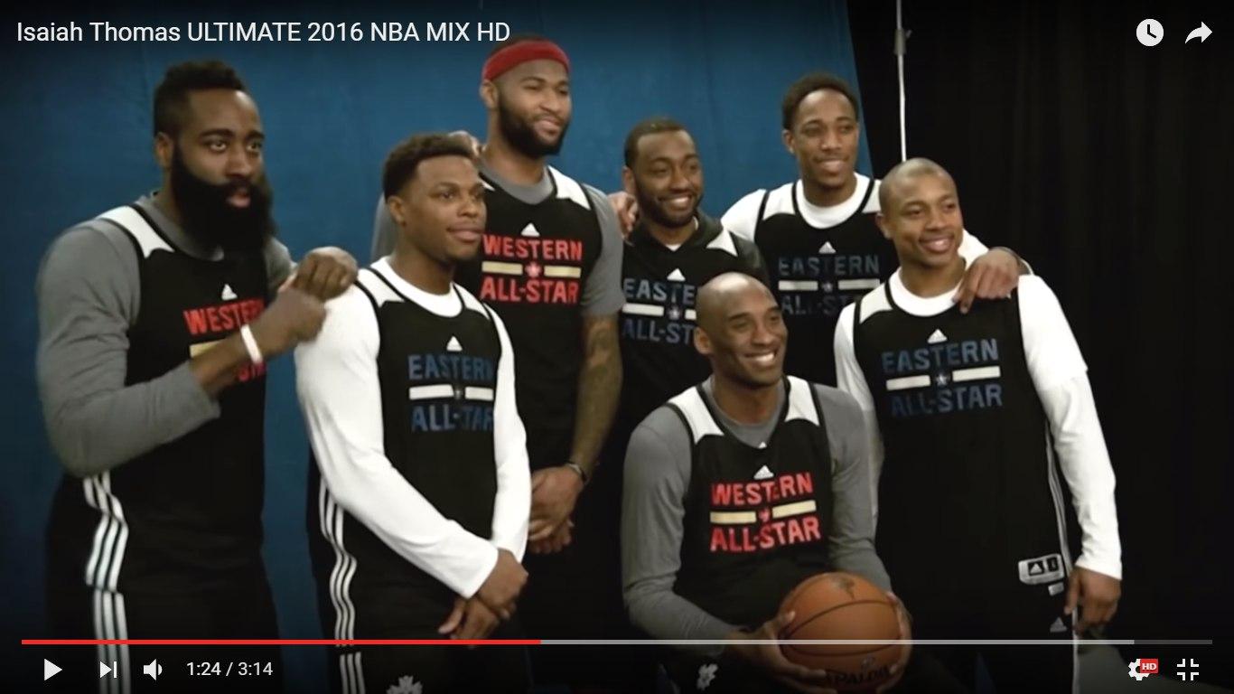 Isaiah Thomas на Матче Всех Звезд НБА 2016