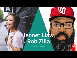 Live Illustration with Jennet Liaw and Rob Generette III - AdobeLive