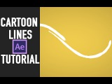 after effects tutorial  Cartoon lines animation