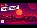 Fantasy Planet - Flat Design Illustration Illustrator Photoshop SpeedArt
