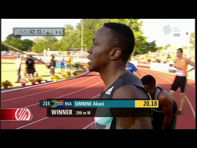 Akani Simbine Wins Men's 200m Gyulai Istvan Memorial 2016