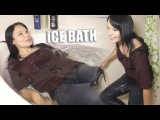 Ice Bath Challenge with Liana in 4K fully clothed and heels