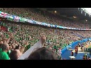 Will Grigg's on Fire by Northern Ireland fans (Paris, EURO 2016)