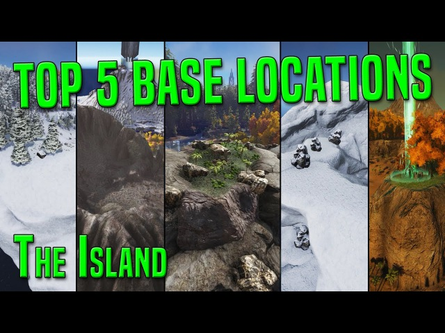 ARK TOP 5 PvP BASE LOCATIONS on The Island [PvP Tips Tricks] - ARK Survival Evolved