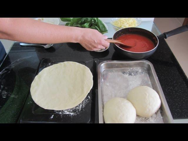 Làm Đế Pizza Тесто для Пиццы Видео Рецепт Hướng dẫn nhồi bột bánh Pizza Quick Pizza dough Recipe