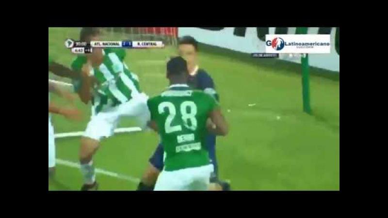 Atl Nacional vs Rosario Central 3-1 Gol de Berrio - Copa Liberadores 2016