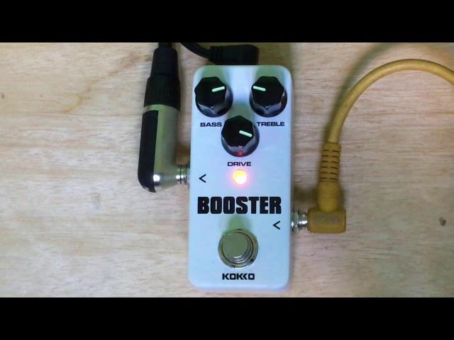 Demo revew Kokko booster mini pedal