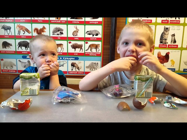 Happy meal Kinder Хеппи мил Киндер открываем игрушки
