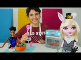 Barbie Oyuncak Mutfak Seti ile KAFE oyunu. Restoran i