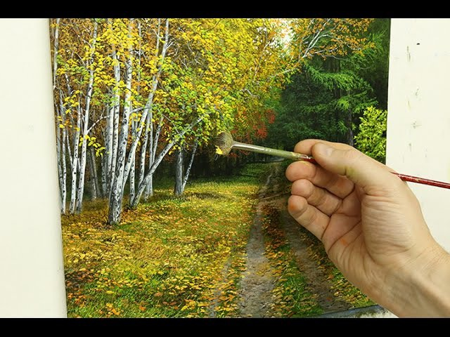 70 How To Paint Silver Birch Trees Part 3 | Oil Painting Tutorial