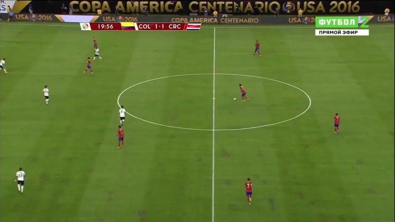 Копа Сентенарио-2016. Группа А. 11.06.16. Колумбия - Коста-Рика. 1 тайм (рус) 720p