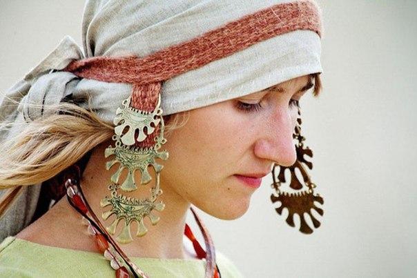 Височные кольца - женские славянские украшения