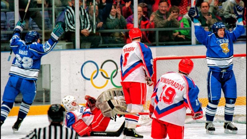 Олимпийские игры в Лиллехаммере 1994. Матч за 3-е место. Россия - Финляндия 0-4 (26.02.1994)