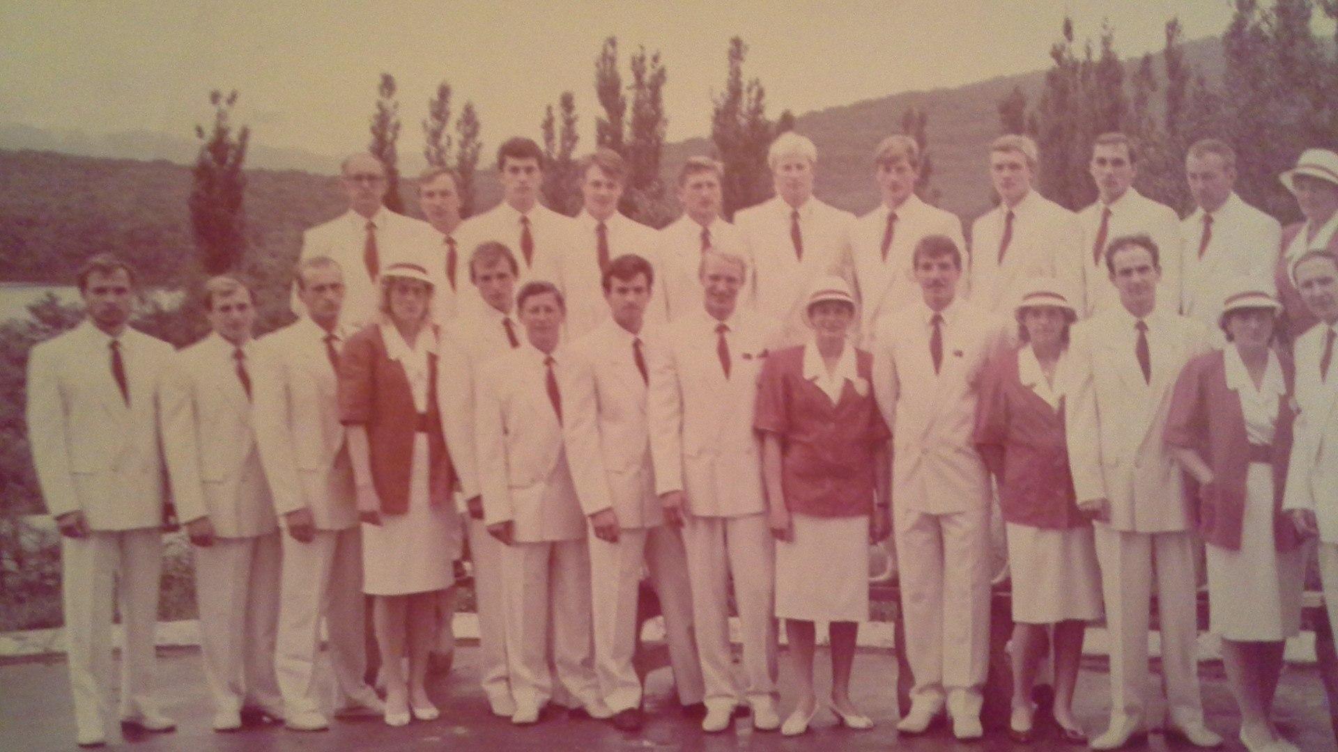 Фото из личного архива Виктора Денисова. Так выглядела сборная России по гребле на Играх в Сеуле.