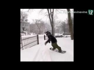 Сноубординг на улицах города