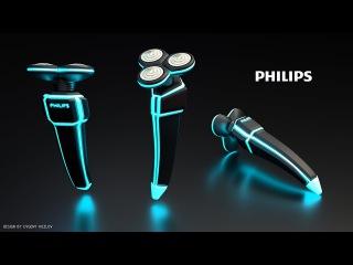 Дизайн к семидесятипятилетию бритвы Philips. Future edition.