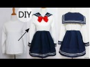 DIY: How to Transform T shirt into Navy Dress Chinese/Qi Lolita Dress Review