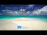 White Sand, Blue Water &amp Waves 4K UHD 2 Hours - Fiji Islands - Nature Relaxation