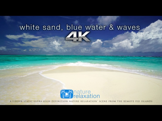 White Sand, Blue Water Waves [4K UHD] 2 Hours - Fiji Islands - Nature Relaxation™