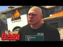 WWE 2K17 Story - Brock Lesnar Burns Kurt Angle's House Down 🔥 RAW (WWE GTA Mods)