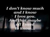 DON'T KNOW MUCH (Lyrics) - LINDA RONSTADT AARON NEVILLE