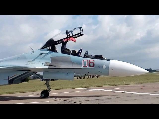 авиашоу 75 лет 116-ой ШАБ с участием Соколы России, Лида 2016