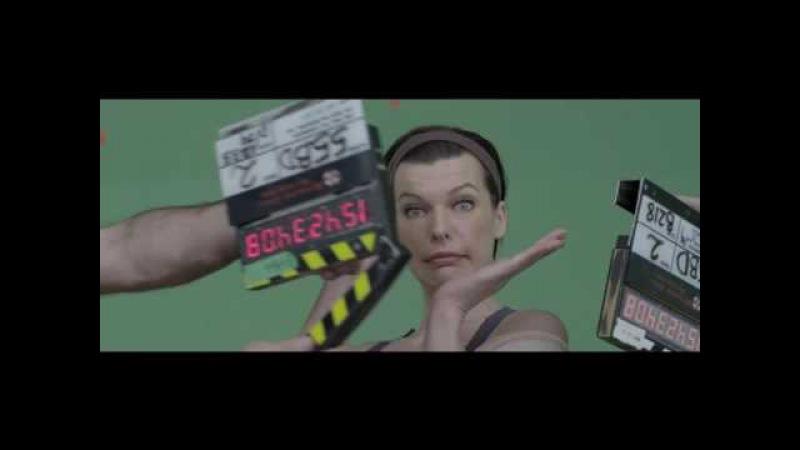 Невдалі дублі і смішні моменти зі знімального майданчика - Оселя зла: Фінальна б ...