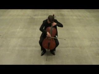 Michel van der Aa: 'Oog' for cello and soundtrack - played by Örs Köszeghy