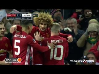 Манчестер Юнайтед - Уиган Атлетик 1:0. Маруан Феллайни