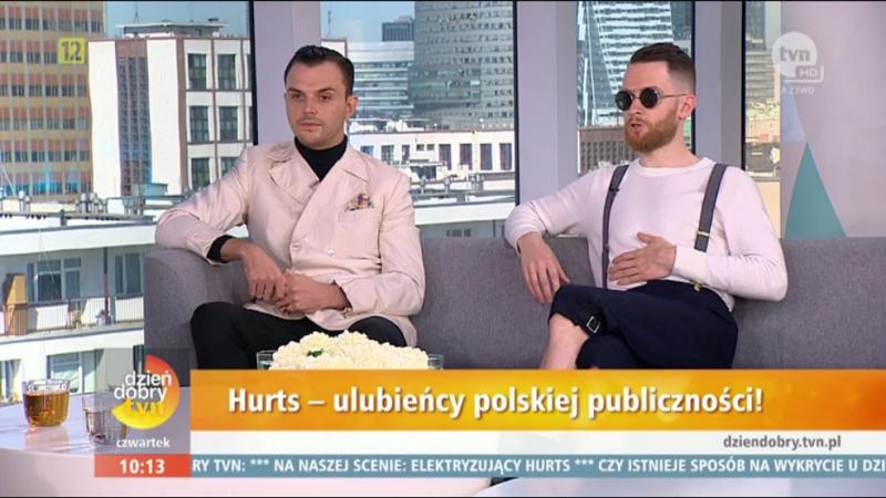 Hurts – Dzień Dobry TVN (Poland, 19.05.2017)