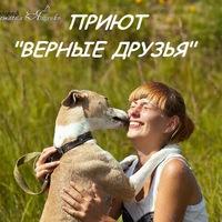 """Логотип  ПРИЮТ_для животных_""""ВЕРНЫЕ ДРУЗЬЯ"""""""