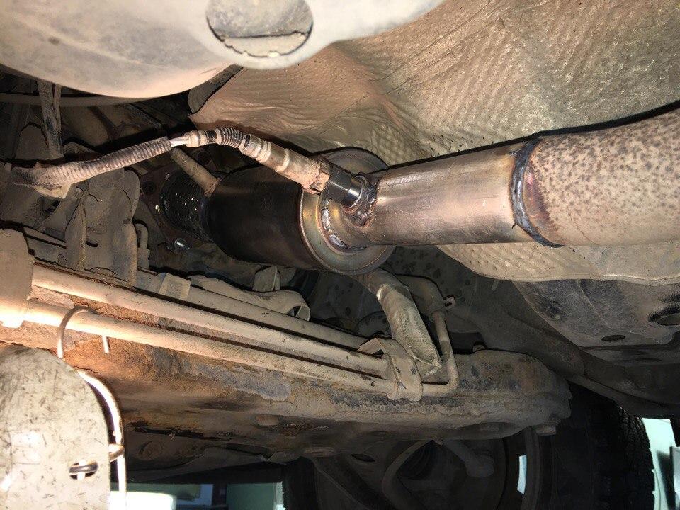 Dodge Caliber - Замена катализатора на пламегаситель GFF