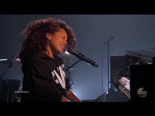 Alicia Keys Performs 'Illusion of Bliss' on Jimmy Kimmel Live