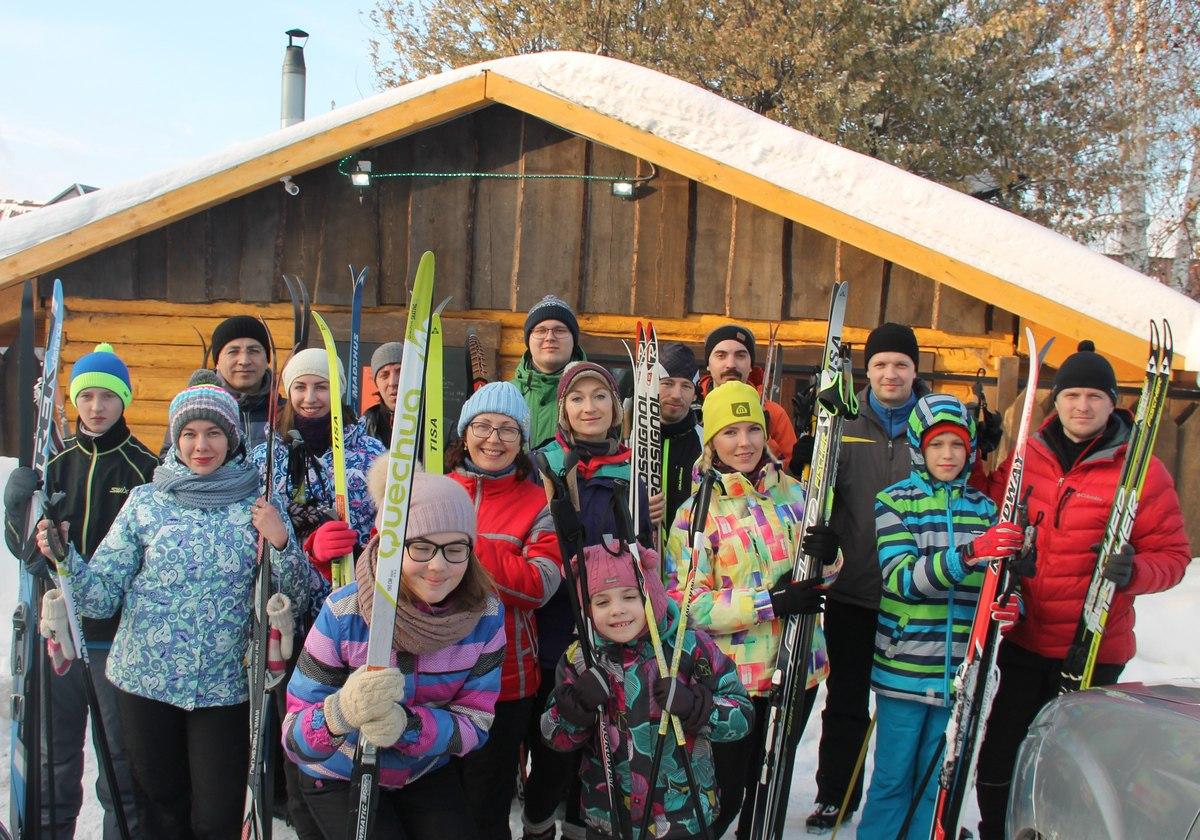 Занятия на беговых лыжах Барнаул