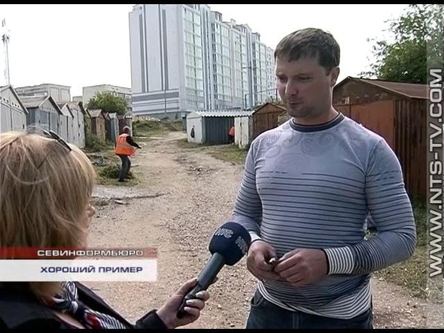 23.05.2017 Предприниматели Гагаринского района убрали торговые объекты, заслонявши ...