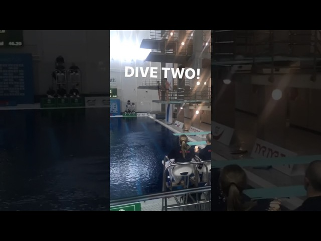 InstaStory DLB Mixed 3m synchro. Tom Daley and Grace Reid. Dive 2 (National Diving Cup, 3 Feb 17)