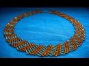 Бисероплитение|Колье из бисера и стекляруса|How to make a beaded necklace?!