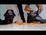 Male Feet Black Socks Crushing Inside My High Tops Shoes (Messy)