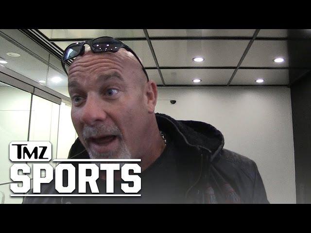 Goldberg Dares Brock Lesnar To Elbow Him... I Ain't No Bitch | TMZ Sports
