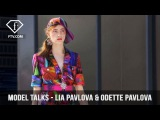 Model Talks Paris SS 17 Lia Pavlova &amp Odette Pavlova  FTV.com