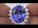 GIA Certified FLAWLESS Natural Tanzanite Diamond 18k White Gold Estate Ring - C907