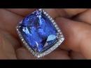 ENORMOUS 29 24 Carat GIA Certified Tanzanite Diamond Ring set in Platinum