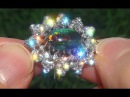 GIA Certified Natural UNTREATED Australian Black Opal Diamond 18k White Gold Ring - C603