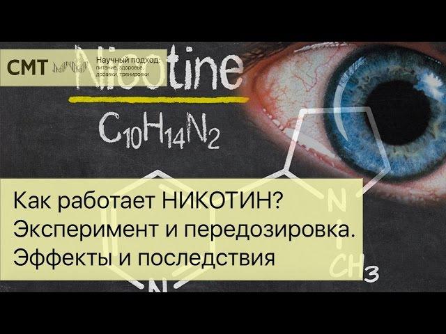 Как работает НИКОТИН Эксперимент и передозировка Эффекты и последствия