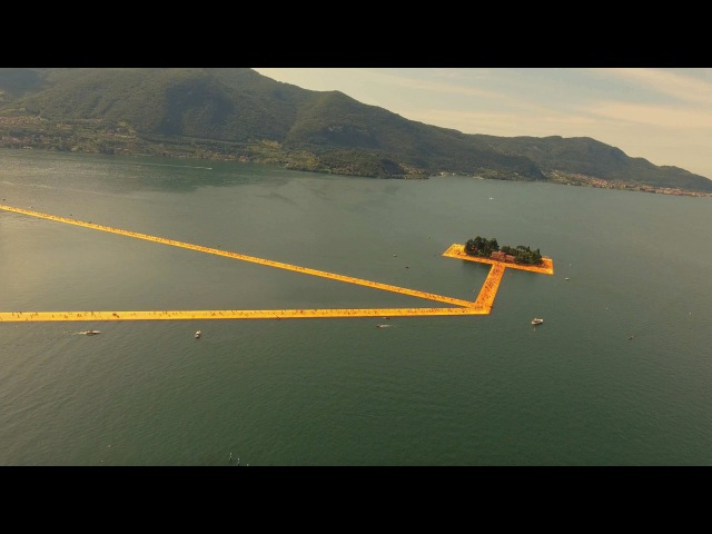 The Floating Piers by Christo Jeanne-Claude