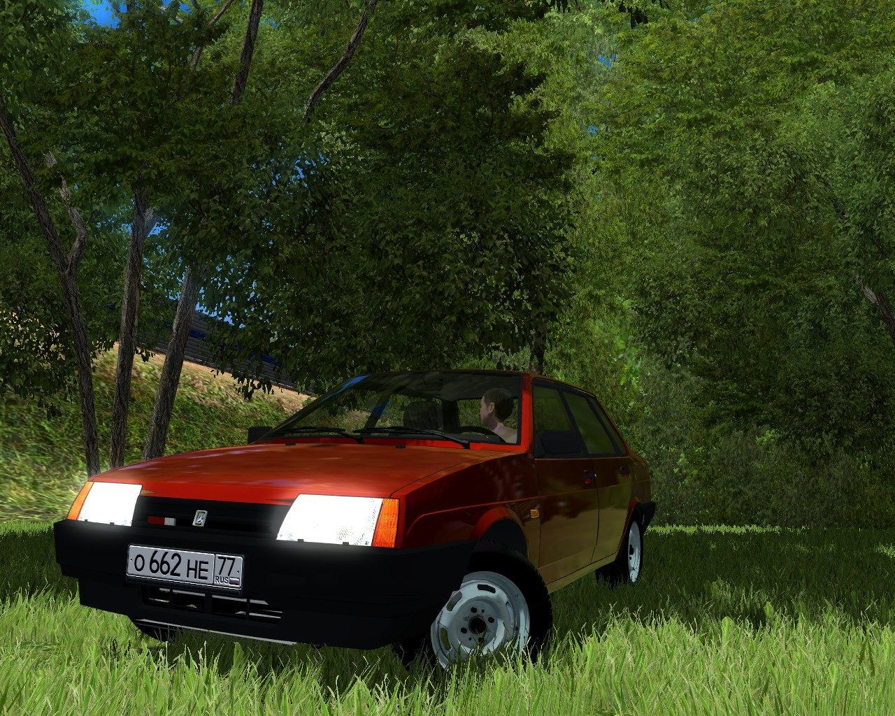 Lada 21099 для City Car Driving 1.5.0 - 1.5.2