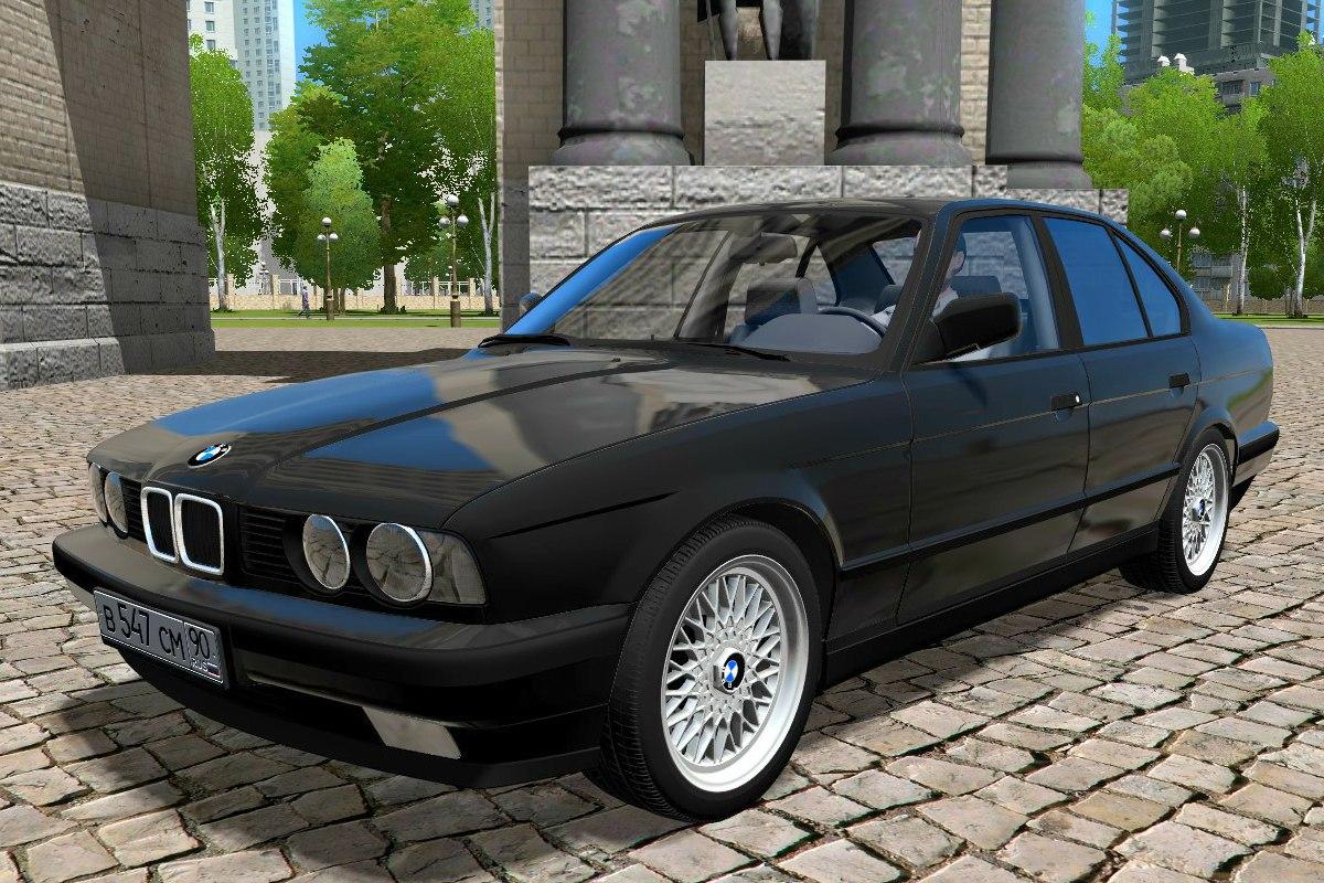 BMW 525i E34 1995 для City Car Driving 1.5.1-2